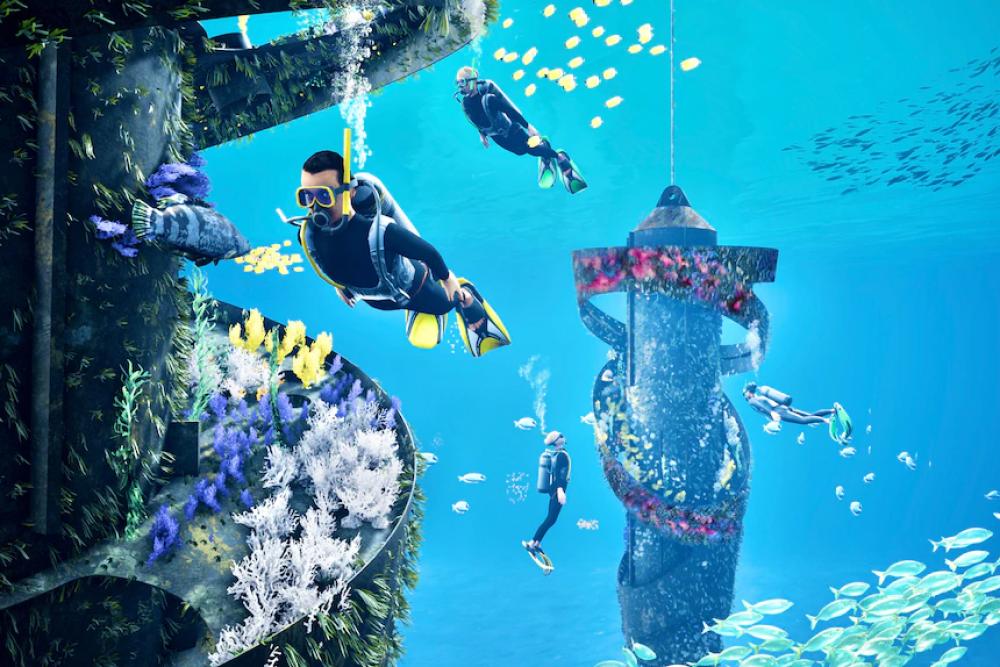 Wonder Reef Installation Begins